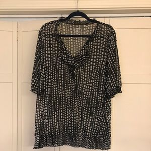 Lane Bryant black polka dot shirt